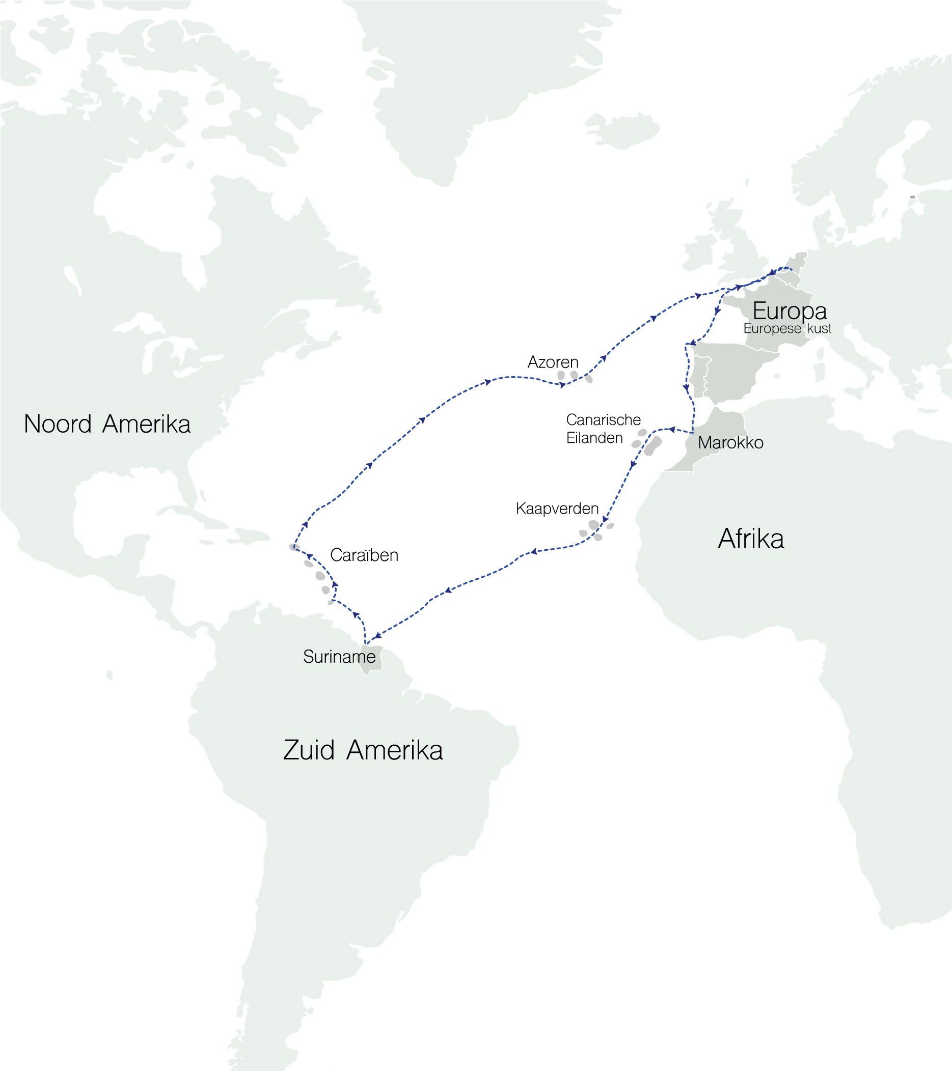 onze globale route